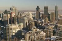 Montreal Skyline Winter Canada