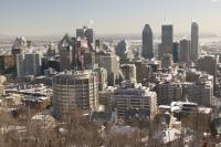 Montreal Skyline Winter
