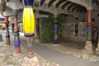 Mosaic Crafts by Frederick Hundertwasser photographed on the North Island of New Zealand.