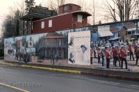 Chemainus on Vancouver Island in British Columbia is a unique town known for its large wall murals.
