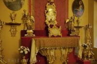 The chapel alter at the Palais Lascaris Museum in Nice, France in Europe has many historic pieces displayed for viewing.