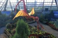 The Muttart Conservatory in Edmonton, Alberta is a beautiful horticultural attraction for tourists.