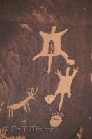 These ancient petroglyphs are thought to give insight into the history of native american tribesmen or prehistoric man.