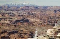 Situated in Canyon Rim Recreational Area the Needles Overlook is a great place for stunning view over Canyonlands.