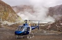 Helicopter tours to White Island on the East Coast of the North Island of New Zealand are fascinating when you land on this active volcano.