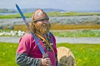 Stock Photo of a Viking at Norstead Viking Site
