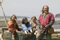 Photo of Wayne, the viking in Norstead Viking site.