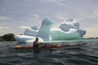 Photo of Adventure travel by way of kayaking on trip out to see the icebergs of Newfoundland