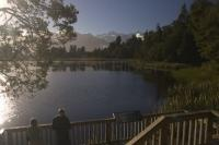 Westland National Park Lake Tourists