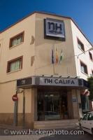 On the street corners in the commercial district in the City of Cordoba in Andalucia, Spain, tourists will find comfortable accommodations under the name of NH Califa Hotel.