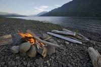 These quiet shores along the scenic Nimpkish Lake near Port McNeill on Northern Vancouver Island are the perfect campfire locales.