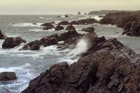 The beautiful and rugged ocean scenery along the coastline of Notre Dame Bay near Twillingate in Newfoundland, Canada.