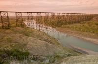 The Oldman River runs from the foothills of the Rocky Mountains through the city of Lethbridge in Alberta, Canada.
