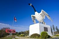 An enormous statue representing a Canadian Goose adorns the town of Wawa, Ontario and has become a very famous fixture in many pictures taken by tourists.