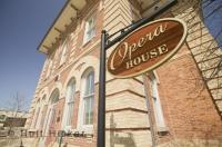 The Opera House is a historic building in Orangeville, Ontario which was built around 1875. It is also the Town Hall as well as a theatre.