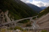 The 440 metre long Otira Viaduct through Arthur's Pass is one of the most notable environmental engineering achievements in New Zealand.