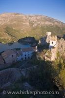 Overhead View Historic Castle Guadalest Landscape