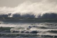 Nature's fury is shown in this picture of the Pacific Ocean as it rolls into Cannon Beach along the Oregon Coast, USA.