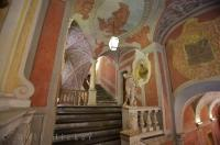 The magnificent staircase of the Palais Lascaris Museum in the Old Town, Nice in Provence, France.