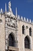 Situated in the Piazza San Marco, the Palazzo Ducale is a famous tourist attraction in Venezia, Italy.