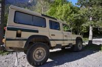 The Park Ranger vehicle is a necessity in the mountains in Parque Nacional de Ordesa y Monte Perdido in Aragon, Spain.