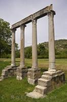 This peaceful scene of the Roman Temple remains in the village of Riez, Provence in France, is timeless and inspiring.