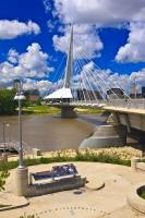 Dubbed as the most photographed bridge in the city, Esplanade Riel is a pedestrian bridge which spans the Red River in the city of Winnipeg, Manitoba.