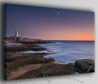 Peggys Cove Lighthouse with Moon