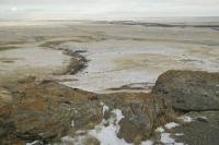 head smashed in buffalo jump Winter View