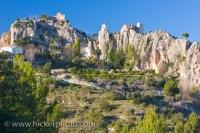 Picturesque Village Guadalest Tourist Attraction Spain