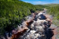 The wilderness surrounds the gorge which was created by the Pinware River in Pinware River Provincial Park in Southern Labrador, Canada.