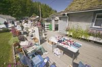 Art and Craft Fairs are frequently events during the summers on Northern Vancouver Island like this annual fair in Telegraph Cove.