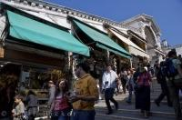 The busy Ponte di Rialto shops have been an attraction for centuries in Venice, Verona in Italy, Europe.