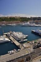 A bustling port at the height of summer, the marina of La Condamine in Monaco is a popular destination in the Mediterranean.