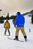 Learning to ski is no problem when visiting Whistler in beautiful British Columbia, Canada. Ski students are taught by pro skiers who are available for both private and group lessons on either Whistler or Blackcomb Mountain.