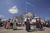 A dance is performed during the Maibaumfest in the small town of Putzbrunn near Munich in Southern Bavaria.