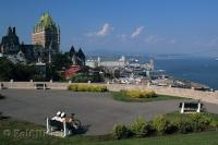 Quebec City seen from Citadelle, Quebec, Canada, North America