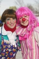 These people put on their clown faces and clown costumes to entertain young and old at the Quebec Winter Carnival.