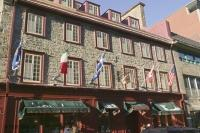 A fine example of an early and historic building in downtown Quebec, Canada.