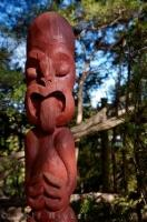 A sign of 'tapu' is the Rahui Post at Rewa's Village, an interesting Maori village in the town of Kerikeri in Northland, New Zealand.