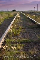 Railway tracks in the town of Morse, Saskatchewan stretch as far as the eye can see and disappear in to the horizon. The Canadian Railway is such an integral part of Canada's history and originally joined this huge country together.