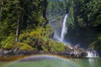 Especially powerful is Millard Creek waterfall after heavy rainfall, on sunny days it often creates a wonderful rainbow.