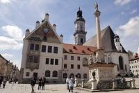 Rathaus St Georges Church Marienplatz Freising Bavaria Germany