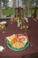A delectable plate of cooked red lobster served up at Lanes End B&B in Lewisporte, Newfoundland.