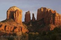 The stunning red rock formations of Cathedral Rock near Sedona, Arizona, USA.