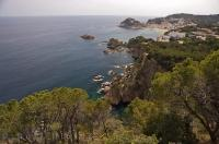Tossa de Mar in Catalonia, Spain is a resort town along the Costa Brava coastline in Spain, Europe.