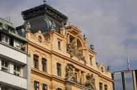 Restored Historic Building Wenceslas Square Prague