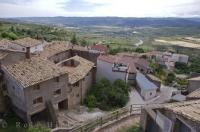 The beautiful landscape of Huesca, Aragon in Spain from the hilltop where the village of Riglos is situated.