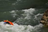 Kayaking down the Gallego River in Huesca, Aragon in Spain can become very intense in certain areas.