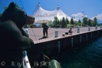 The Roberta Bondar Pavilion in Sault Ste Marie in Ontario, Canada is a large tent used for a variety of activities.